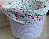 Personalized Basket for Children's Custom Tea Set