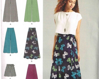 Palazzo Pants Wrap Maxi Skirt Shorts Sewing Pattern Simplicity 1069 Misses Womans Size 4 6 8 10 2 14 16 18 20 Uncut Factory Folded
