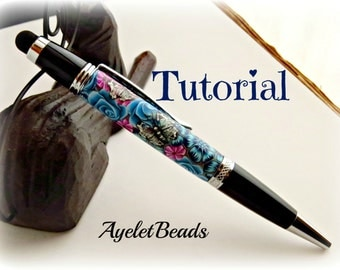 Polymer clay pen covering.