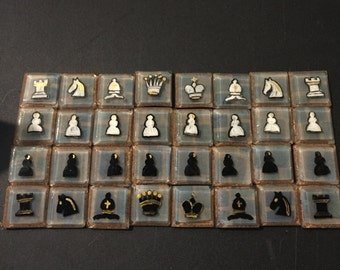 handmade resin chess set