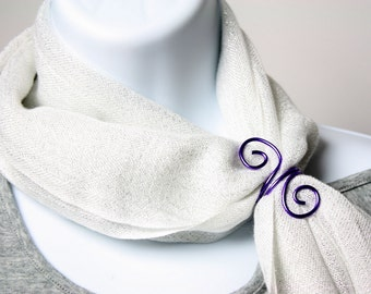 Purple Wire Scarf Slide, Belt Slide or Napkin Ring - Scarf Accessory, Dining Accessory, Gift Idea, Gift for Her