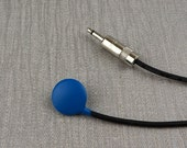 "3.5mm plug Blue Contact Microphone With 2 Metre Lead 1/8"" plug"