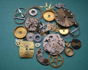 Vintage steampunk watch parts sampler, No. 5