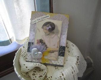 Handmade Card for Grandma - Love Grandma Card