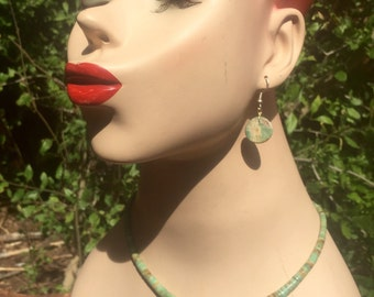 Natural Graduated Green Mohave Turquoise Necklace