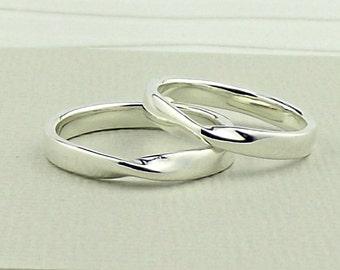 Sterling Silver Möbius Ring - silver ring-silver band-silver wedding ring-silver wedding band-wedding ring-wedding band-silversynergy-uk