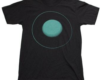 Mens Uranus PLANET Black T Shirt american apparel short sleeved space shirt xs S M L Xl xxl