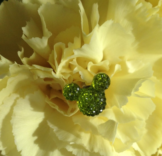 Disney Wedding FREE SHIP 6 Hidden Mickey Ears Bouquets  Lime Green Corsages Boutonnieres Flower Picks