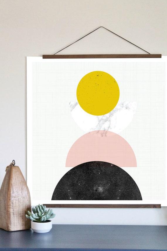 MID CENTURY GÉOMÉTRIE // Mid Century Poster,  12x18, art geometrique , abstrait