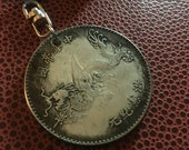 Vintage Dragon Coin Chinese Asian Steel Coin Keychain For Men and Women