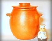 Bean Pot, Handcoiled Micaceous Cooking Pot, 4 qt., Clay Cookware