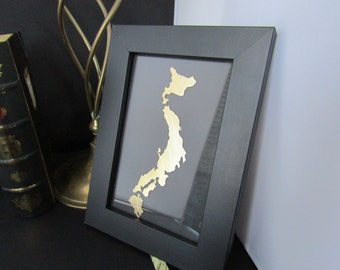 JAPAN, personalized, custom framed country design, all countries around the globe are available
