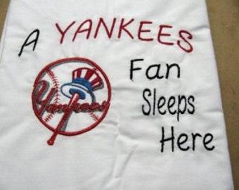 New York Yankees-Baseball-Custom Personalized Embroidered Pillowcase