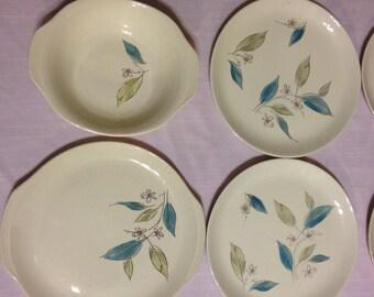 Set of  35 Vintage Mid Century Salem Biscayne Pattern Dishes