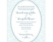 Whimsical Lace Invitation - Collection options available