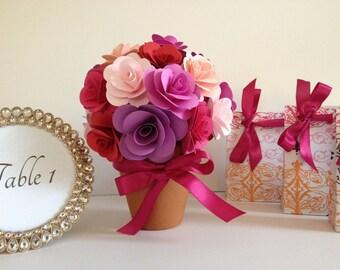 Centerpiece Wedding Bridal Shower Rose Centerpiece
