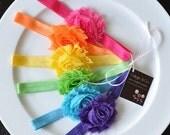 SALE Baby Headband - Baby Headbands  -  Newborn Headband - Baby Girl Headband - Toddler Headband - Shabby Chic Rose Flower