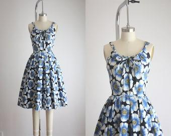 1950s blue roses jumpsuit