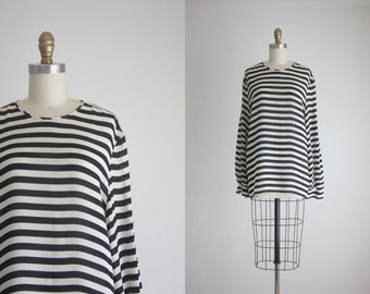striped sheer tunic