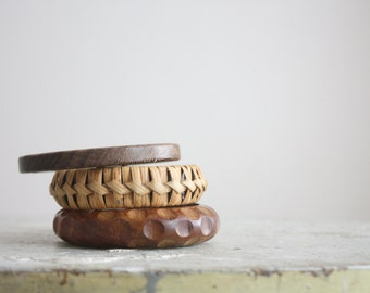 stacking wood bracelets