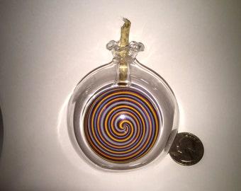 Hand Blown Pyrex Glass Oil Lamp with Hemp Wick...