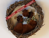 Mess of Moose Grapevine Wreath Wall Hanging