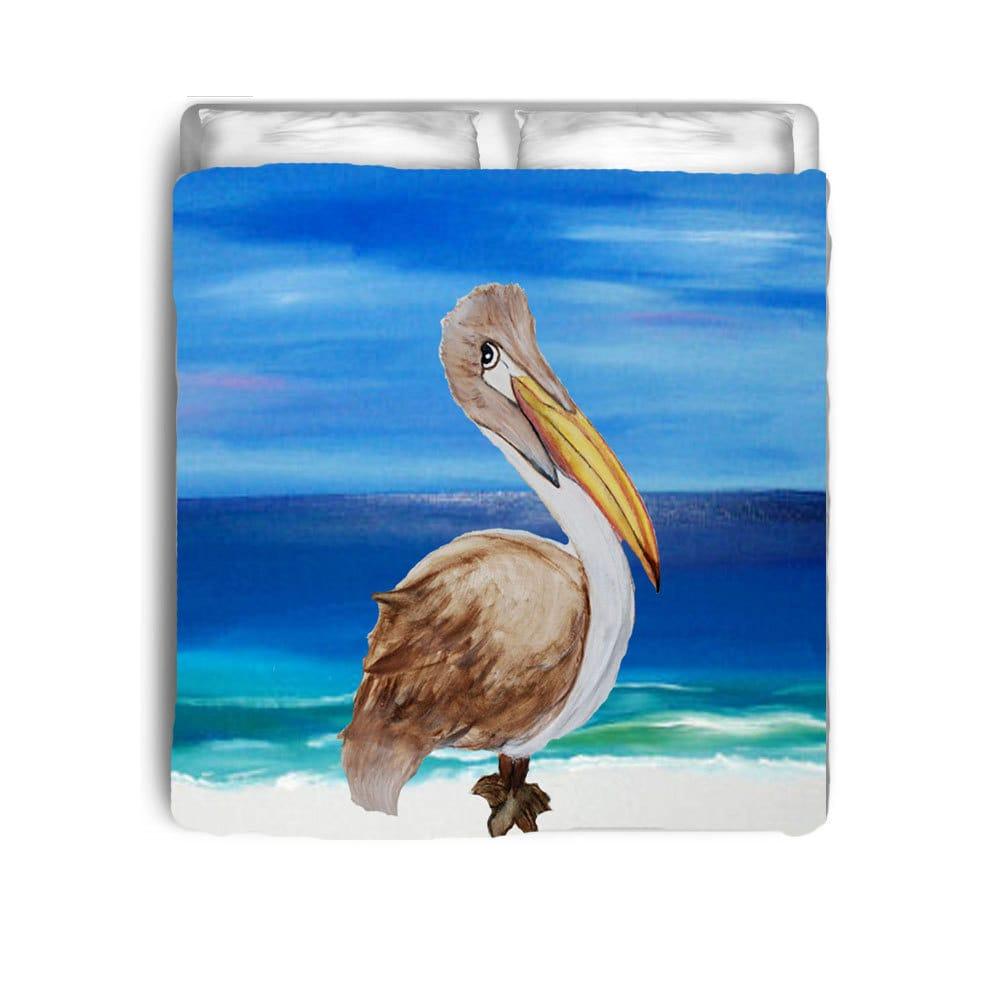 Brown Pelican Art Bedding Comforters Duvet Covers From My
