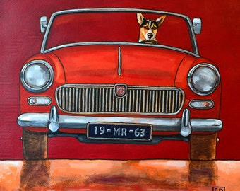 192 MGB - folded art card 15x15cm/6x6inch with envelope