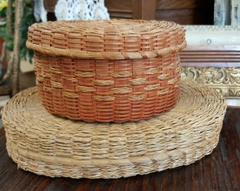 Two Antique Native American Passamaquoddy Made Baskets from Rustysecrets