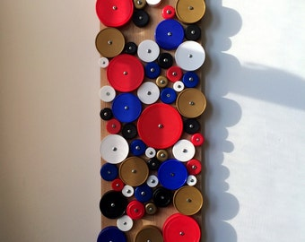 Pittsburgher, USA bottlecap assemblage / wall hanging