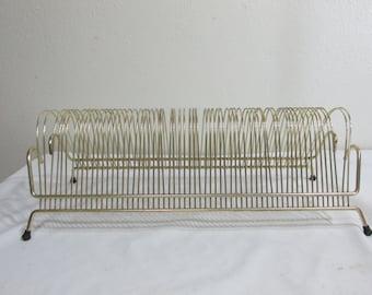 Record Holder Desk Organizer Wire Rack