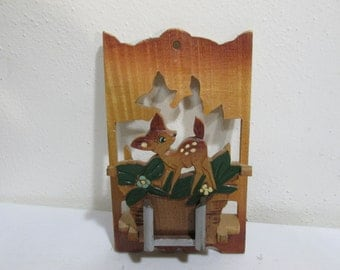 Leave a Note Wood Deer Cut Out