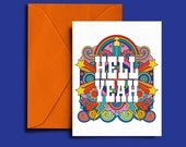 HELL YEAH! - Gender Neutral C6 Card All Occasion