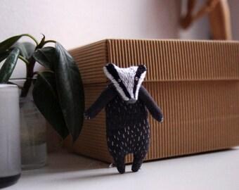 Badger.  Brooch. Pin