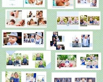 One Year Baby Boy Album-8.5 x 11 Baby Photo Book/Album Templates* Instant Download