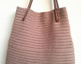 Weekender Bag, BeachTote Bag , Handbag ,Shopping Bag ,SummerBag,Beach Bag With Leather Straps