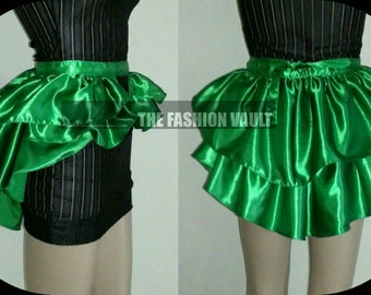 Cosplay Jade West Poison Ivy Apron Bustle burlesque skirt Supercon Ball dance Belly dance