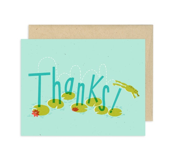 Thanks a Frog Illustrated Greeting Card