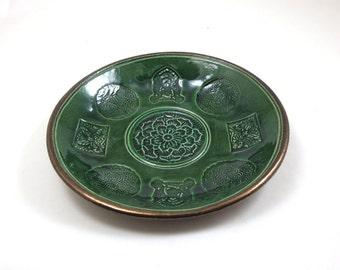 FAIRIES CELTIC Bowl Handmade Raku Pottery