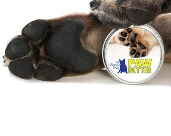 Dog PAW BUTTER: All Natural Moisturizing Balm Handcrafted in the USA for Dry, Cracked, Rough Dog Paw Pads 4 oz. Tin in Gift Bag