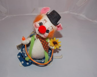 Vintage Annalee Circus Clown Mouse