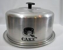 Vintage West Bend Aluminum Covered Cake Taker Cover