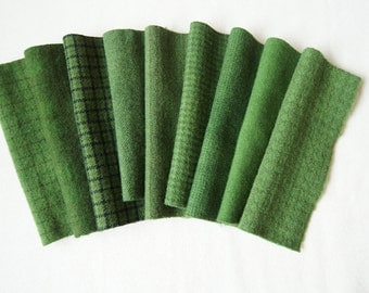 Green Hand Dyed and Felted Wool Fabric Number 6020E Perfect for Quilting, Applique, Rug Hooking and Sewing by Quilting Acres