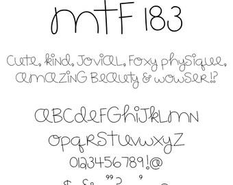 MTF 183 Font