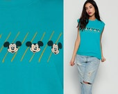 Mickey Shirt Mickey Mouse Tank Top 80s Disney TShirt Sleeveless Sweatshirt Grunge Graphic Cartoon T Shirt Muscle Tee Vintage Retro Medium