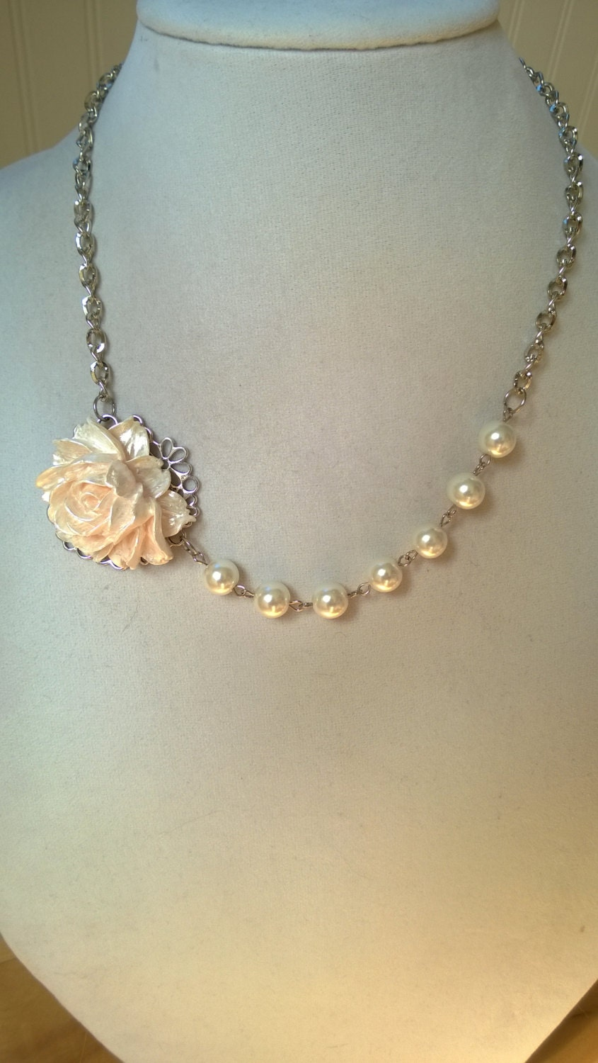 Ivory Wedding Jewelry Bridesmaid Necklace Mother Of Bride
