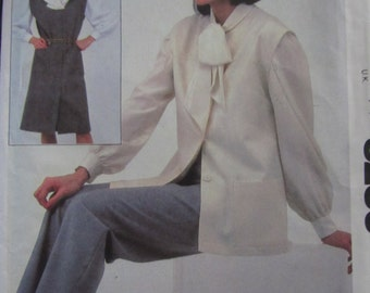McCall 8285/Uncut Sewing Pattern/Woman's Plus Size Jumper or Vest and Pants/Size 18-20/Bust 40-42/1982