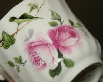 Crownford Pink Rose English Bone China Cup and Saucer