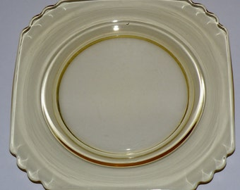 ONE Fostoria Mayfair 7 inch Salad Plate Topaz/Yellow