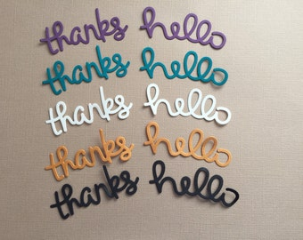 Thanks and Hello Die Cuts - Pkg of 10